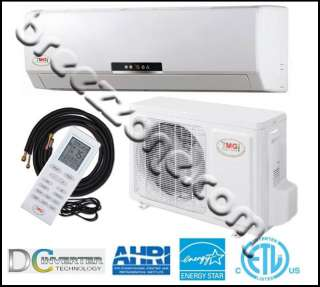 DC INVERTER DUCTLESS MINI SPLIT HEAT PUMP 18 SEER 18000 BTU 1.5 TON