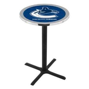 Vancouver Canucks Bar Height Pub Table   Cross Legs