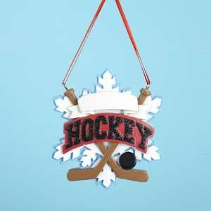Club Pack of 12 Ice Hockey Christmas Ornaments for