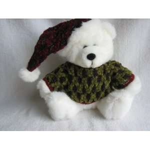 Dan Dee 7 1/2 Plush Christmas Teddy Bear with Green Sweater and