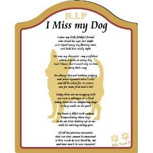 Miss My Chihuahua Dog  8x10 (Male) Poem with Full Color Graphics