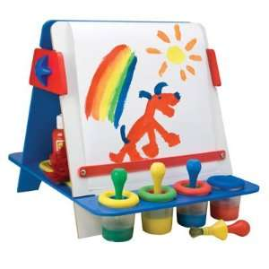 My Tabletop Easel with Brushes and Magnetic Letters Toys & Games