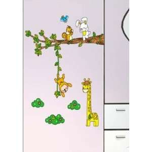 Tree Hanging Monkey Wall Sticker Decal for Baby Nursery Kids Room