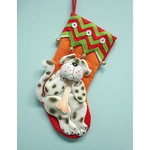 & Red Plush Pet Dog Jingle Bell Christmas Stocking