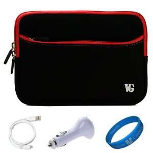 Red Trim Durable Scratch Resistant Neoprene Sleeve