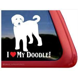 I Love My Doodle ~ Labradoodle Vinyl Window Auto Decal