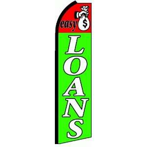 Easy Loans Extra Wide Swooper Feather Business Flag