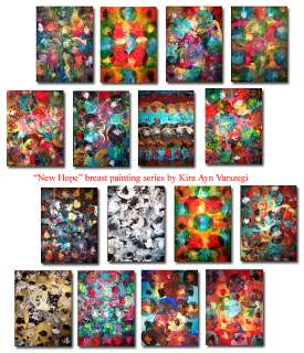 VIVID Original Floral Abstract Art Breast Painting KIRA