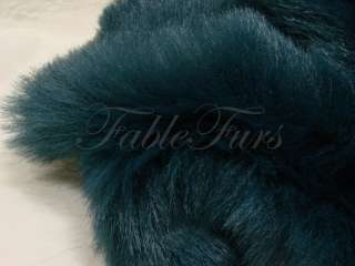 FASHION BLUE FAUX FUR PLUSH COSTUME SEW CRAFT FABRIC