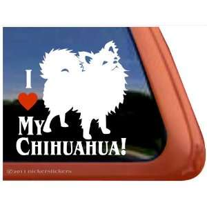 I Love My Chihuahua Dog Vinyl Window Decal Sticker