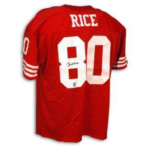Jerry Rice Signed Jersey   San Francisco 49ers Red