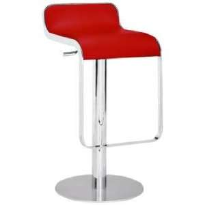 Zuo Equino Red Adjustable Height Barstool