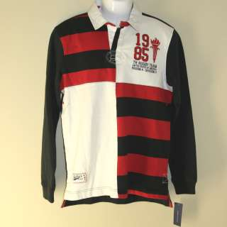 Mens Polo Rugby Shirt by Tommy Hilfiger Blue Red Beige pick size s