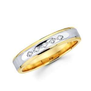 Size  9.5   .05ct Diamond 14k Yellow Two Tone Gold Wedding