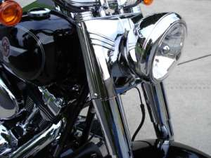 HEADLIGHT HOUSING CONVERSION KIT CHROME NACELLE KIT FOR HARLEY