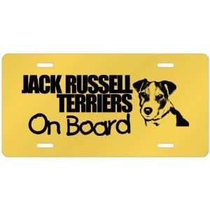 New  Jack Russell Terriers On Board  License Plate Dog
