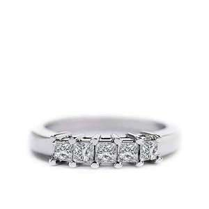 Five Stone Princess Band (1/2 ct. tw.) / 02573 Stein
