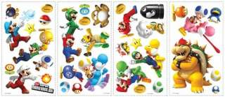 New NINTENDO SUPER MARIO BROTHERS Wii WALL DECALS Room Decoration