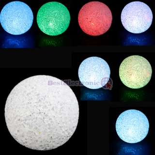 New Color Changing Crystal Ball LED Night Light Lamp