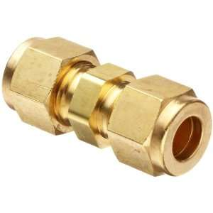 Parker CPI 4 4 HBZ B Brass Compression Tube Fitting, Union, 1/4 Tube