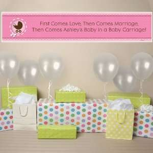 Banner   Girl Baby Carriage   Personalized Baby Shower