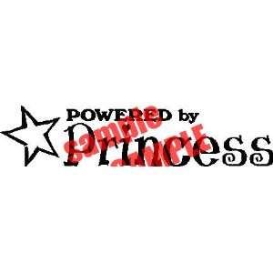 POWERED BY PRINCESS 13 LOGO WHITE DECAL STICKER VINYL