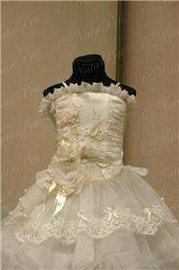 FLOWER GIRL PAGEANT PARTY HOLIDAY DRESS 4007 BEIGE SIZE 4