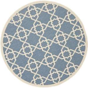Safavieh Courtyard Collection CY6032 243 5R Blue and Beige