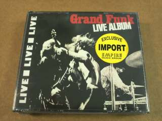 Live Album by Grand Funk Railroad (CD, Jun 2002, 2 Discs, MI Plus