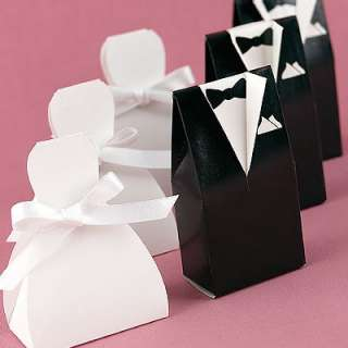 25 Wedding Bride Dress or Groom Tuxedo Favor Boxes
