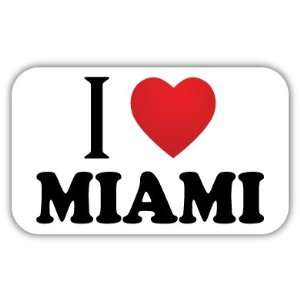 I Love MIAMI Car Bumper Sticker Decal 5 X 3 Everything