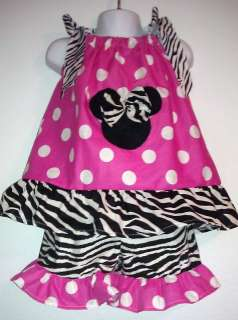 GIRLS MINNIE MOUSE PILLOW CASE DRESS TOP AND SHORTS