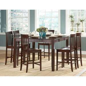 Homelegance Tully Rectangular 5 Piece Counter Height Table