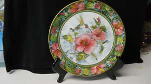 Royal Doulton Franklin Mint The Imperial Hummingbird plate signed on