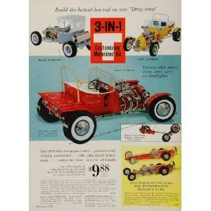 1963 Print Ad Hot Rod Toy Model Kit Red Demon Dragster