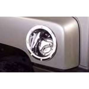 Chrome Fuel Door Cover   Silver, for the 2006 Hummer H3 Automotive