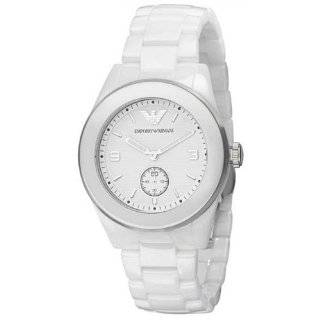Emporio Armani Mens AR1415 Ceramic White Skeleton Dial