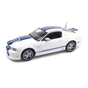 2011 Ford Shelby GT350 1/18 White w/ Blue Stripes Toys