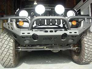 JEEP WRANGLER JK FRONT & REAR BUMPER BLACK WRINKLE FINISHING 2007 2012