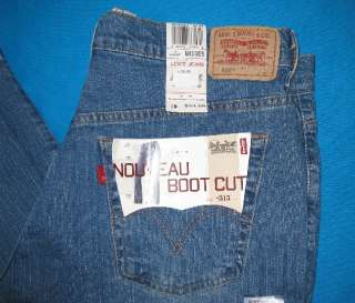 NEW Levis Nouveau 515 Ladies Low Rise, Boot Cut, Stretch Jeans 32 x