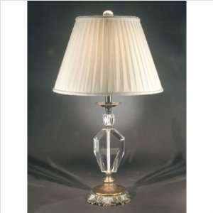 Dale Tiffany Lighting GT70035 Lublin One Light Crystal Table Lamp with