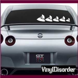 Family Decal Set Jet Ski Stick People Car or Wall Vinyl