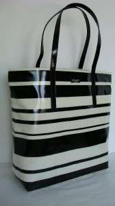 Kate Spade Bon Shopper Daycation Market Tote Handbag Black & White