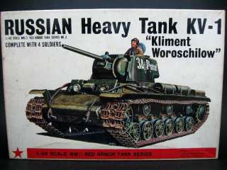 48 BANDAI WWII RUSSIAN HEAVY TANK KV 1 ORIGINAL KIT