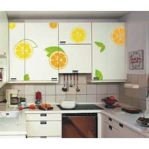 Large  Easy instant decoration wall sticker decor Orange