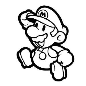 Super Mario Jumping Decal Sticker