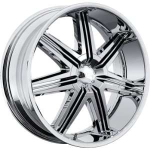 Boss 332 22x9.5 Chrome Wheel / Rim 6x5.5 with a 14mm Offset and a 108