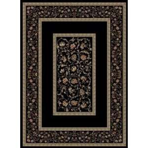 Concord Global Rugs Ankara Collection Floral Border Black Rectangle 5