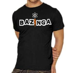 Bazinga Black Big Bang Theory T shirt