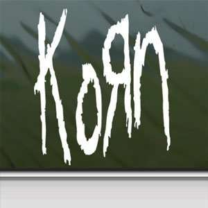 KORN ROCK BAND White Sticker Car Laptop Vinyl Window White